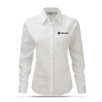 Women´s business blouse in white with long sleeves