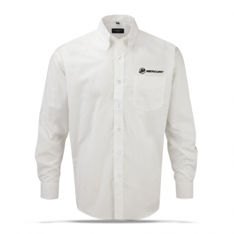 Men's business shirt in white with long sleeves