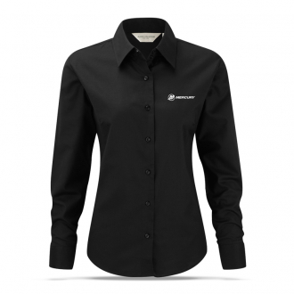 Women's business blouse in black with long sleeves