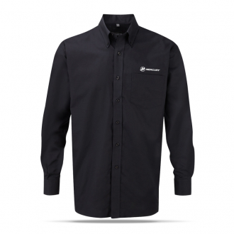 Men's business shirt in black with long sleeves