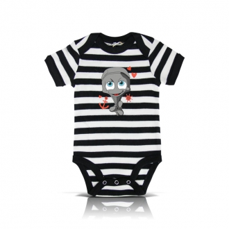 Baby bodysuit in black/white