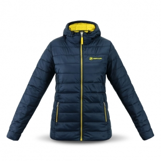 Women´s hooded jacket in navy/yellow