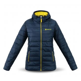 Women´s hooded jacket in navy/yellow, size L