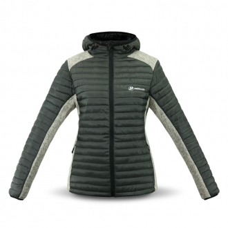 Women´s hooded jacket in grey/grey melange