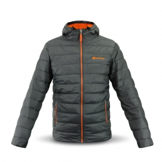 Kapuzenjacke in grau/orange