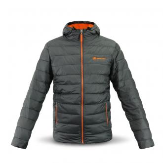 Hupullinen takki harmaalla / oranssilla, Koko S