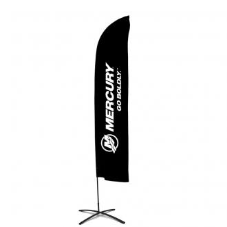 Beachflag krysse, 90 x 90 cm