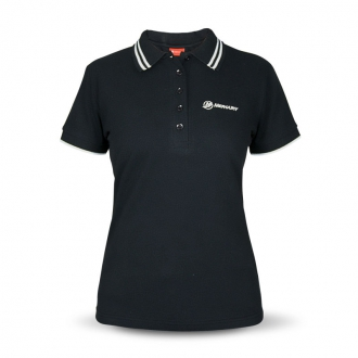 Women's polo shirt in black, size XXL