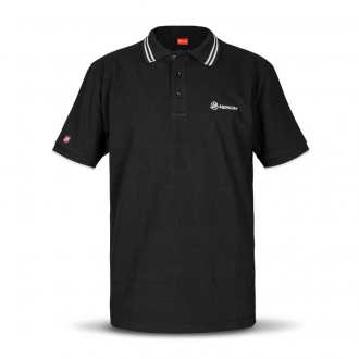 Men's polo shirt in black, size XL